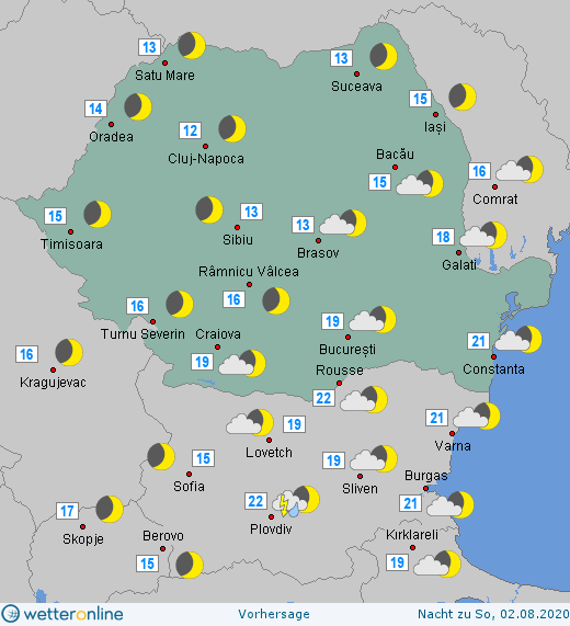 Prognoza meteo Romania  1 - 2 August 2020 #Romania (Romania weather forecast for today).