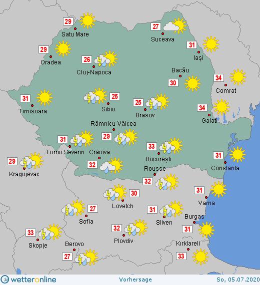 Prognoza meteo Romania 5 - 6 Iulie 2020 #Romania #vremea