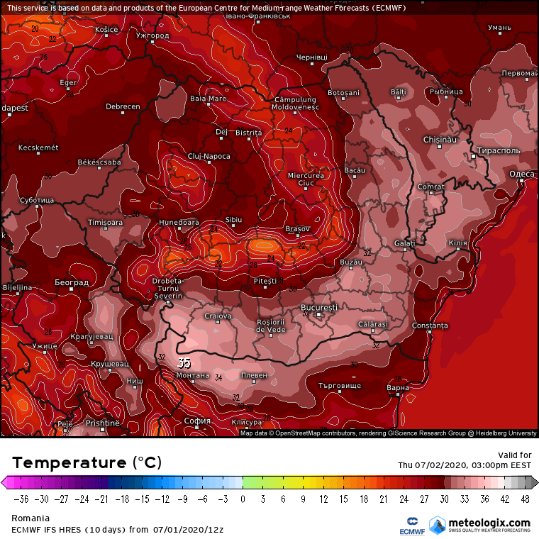 Prognoza meteo Romania 2 Iulie 2020 Romania (Romania weather forecast for today).