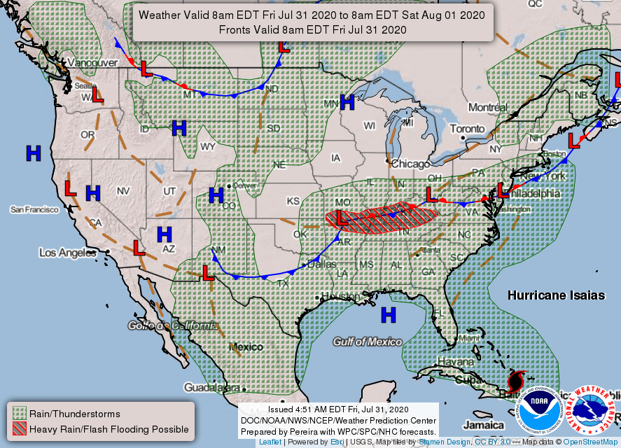 USA weather warnings #USA #weather (Avertizari meteo astazi in USA)