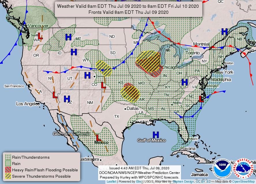 USA weather warnings #USA #weather (Avertizari meteo astazi in USA)
