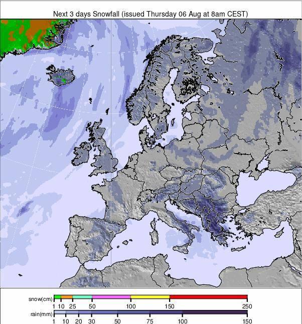 Precipitation maps Europe #weather (Precipitații în Europa)