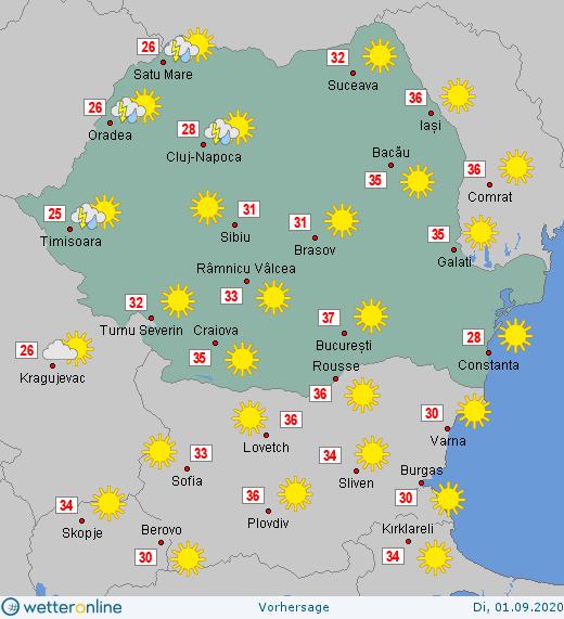 Prognoza meteo Romania 1 Septembrie 2020 #Romania #vremea