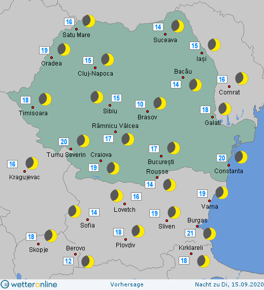 Prognoza meteo Romania 14 Septembrie 2020 (Romania weather forecast)