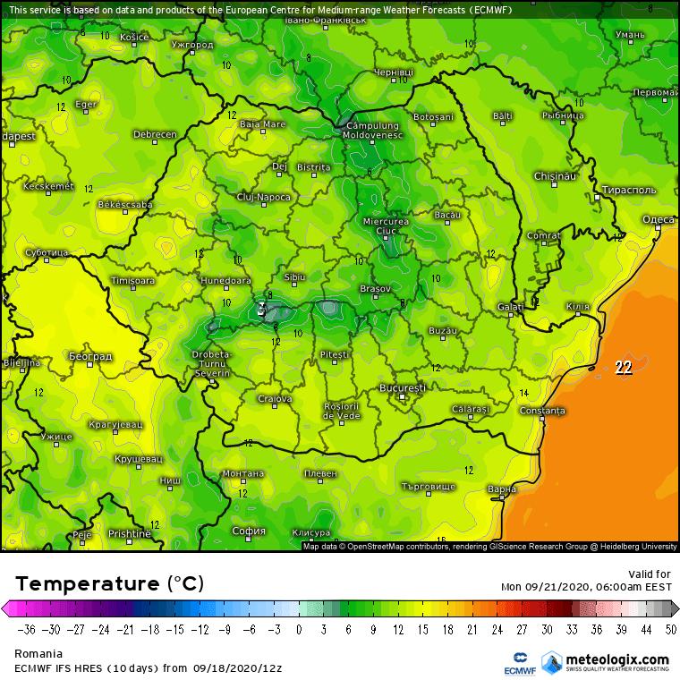 Prognoza meteo România  19 - 20 Septembrie 2020 (Romania  forecast).