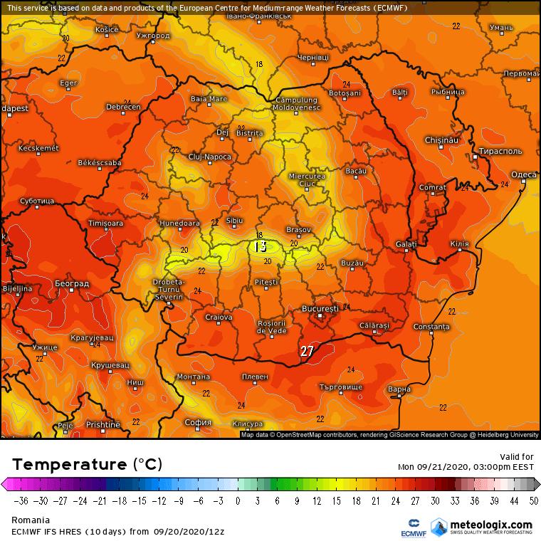 Prognoza meteo Romania 21 Septembrie 2020 (Romania weather forecast)