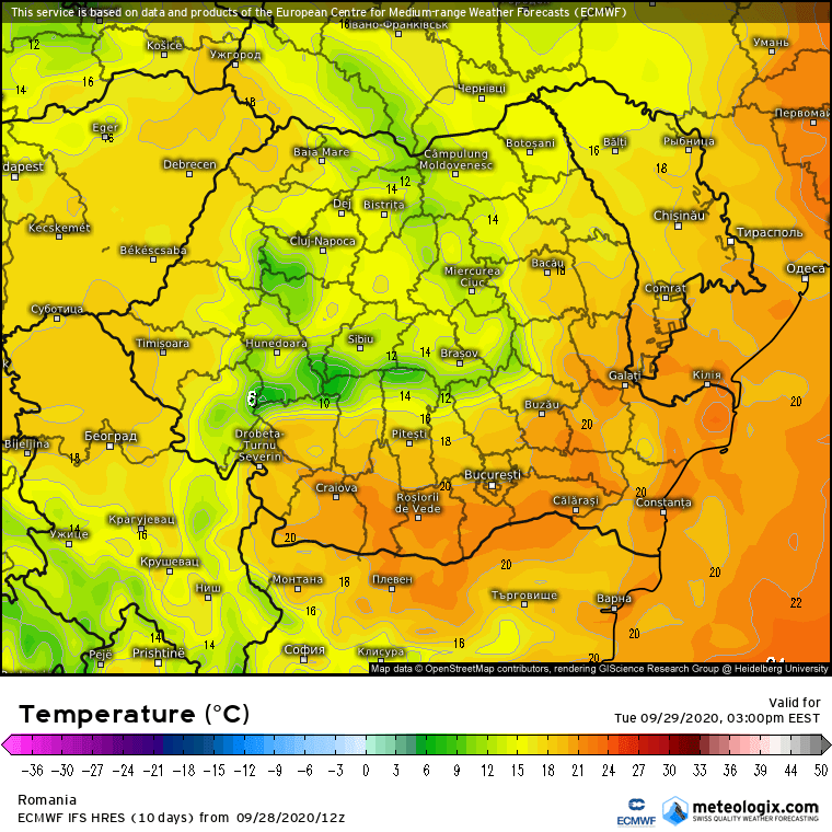 Prognoza meteo Romania 29 Septembrie 2020 (Romania weather forecast)