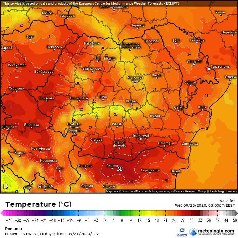 Prognoza meteo Romania 22 Septembrie 2020 (Romania weather forecast)