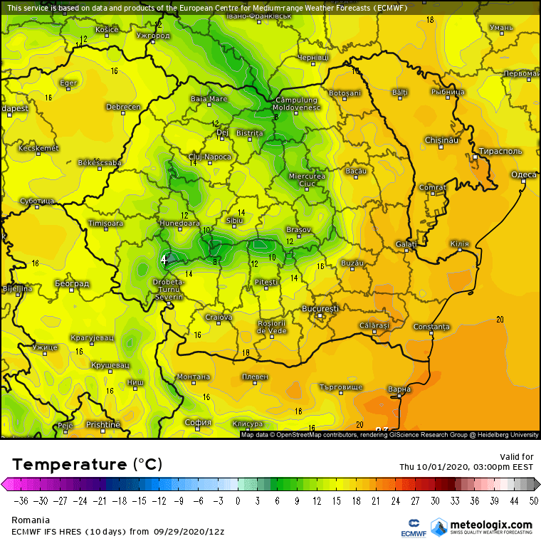 Prognoza meteo Romania 30 Septembrie 2020 (Romania weather forecast)