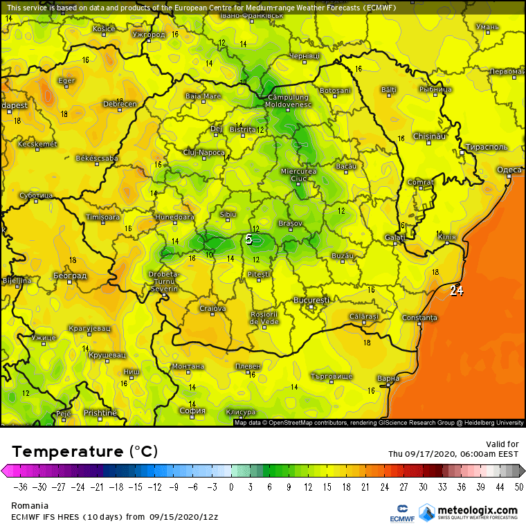 Prognoza meteo Romania 16 Septembrie 2020 (Romania weather forecast)