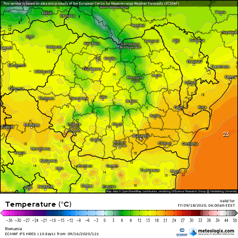 Prognoza meteo Romania 17 Septembrie 2020 (Romania weather forecast)