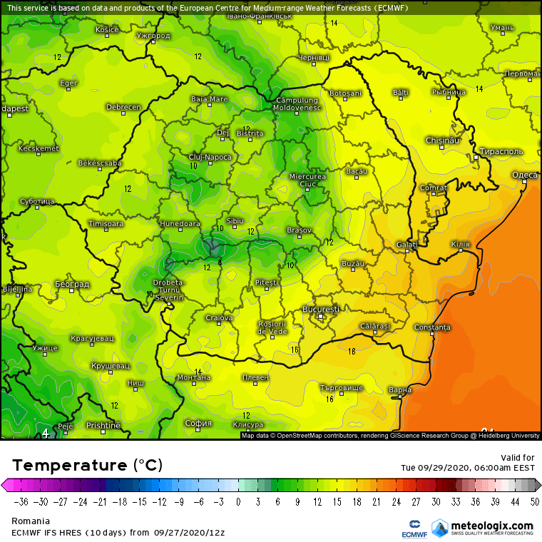 Prognoza meteo Romania 28 Septembrie 2020 (Romania weather forecast)