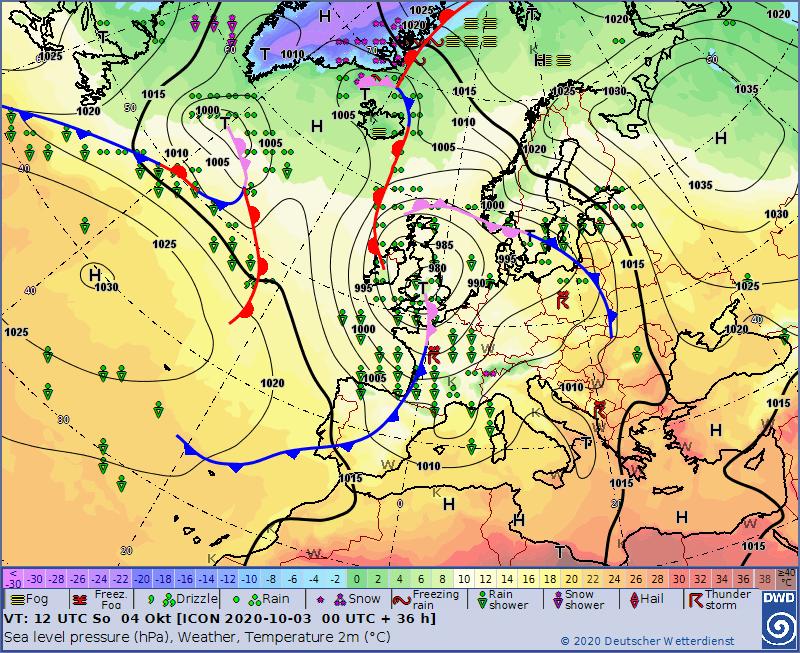 Europe weather forecast 48h #weatherforecast (Prognoza meteo Europa). Radar