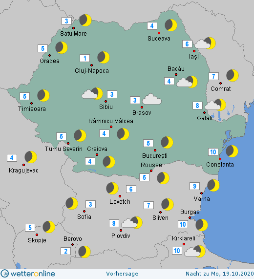 Prognoza meteo Romania 18 - 19 Octombrie 2020 #Romania #vremea