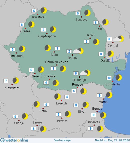 Prognoza meteo Romania 21 Octombrie 2020 (Romania weather forecast)