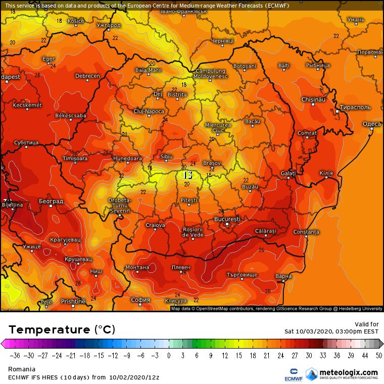 Prognoza meteo România  3 - 4 Octombrie 2020 (Romania  forecast).