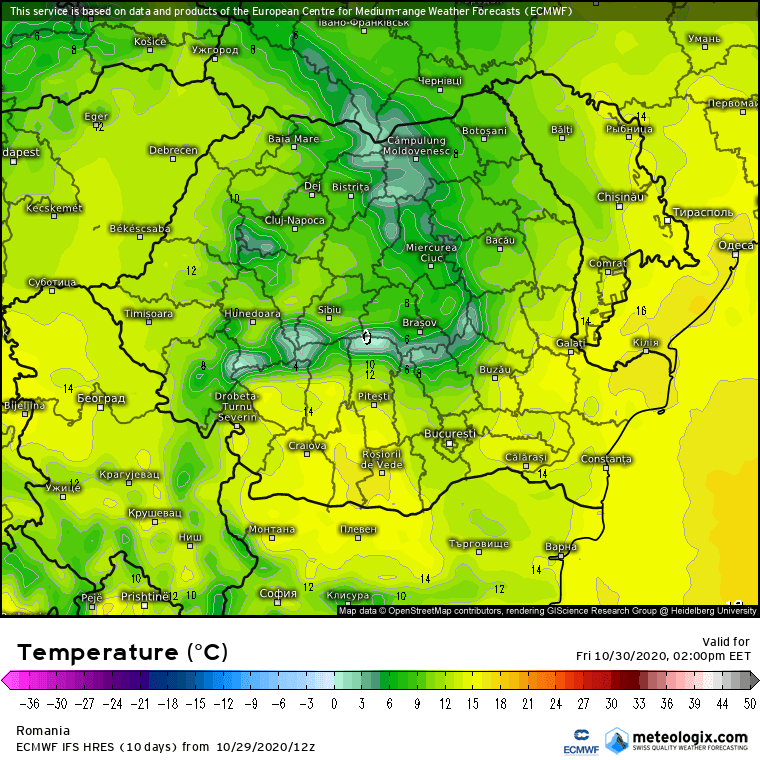 Prognoza meteo Romania 30 Octombrie 2020 (Romania weather forecast)