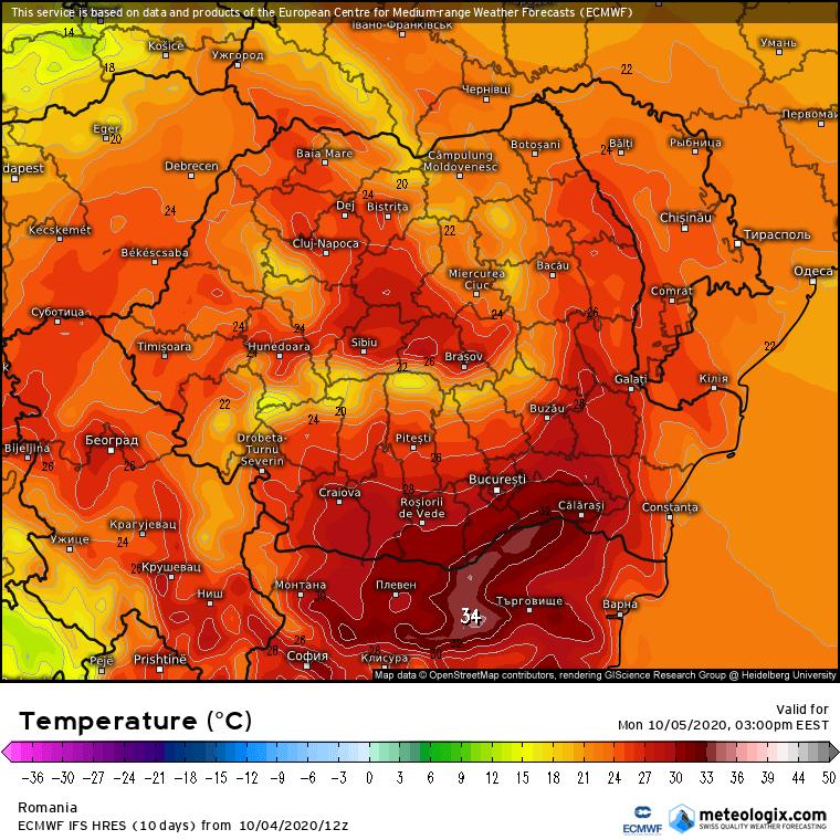 Prognoza meteo Romania 5 Octombrie 2020 (Romania weather forecast)