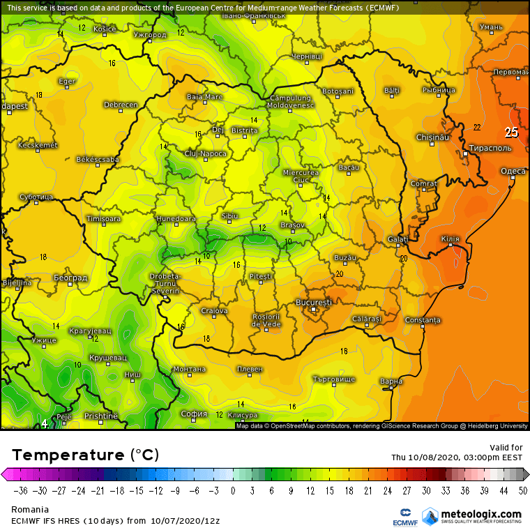 Prognoza meteo Romania 8 Octombrie 2020 (Romania weather forecast)