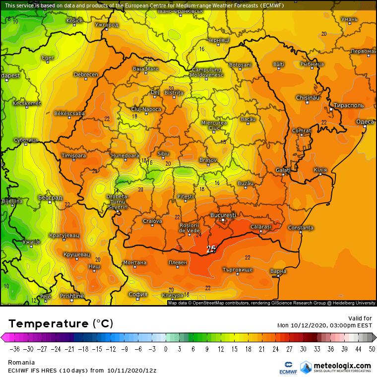 Prognoza meteo Romania 12 Octombrie 2020 (Romania weather forecast)