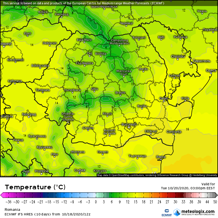 Prognoza meteo Romania 19 Octombrie 2020 (Romania weather forecast)