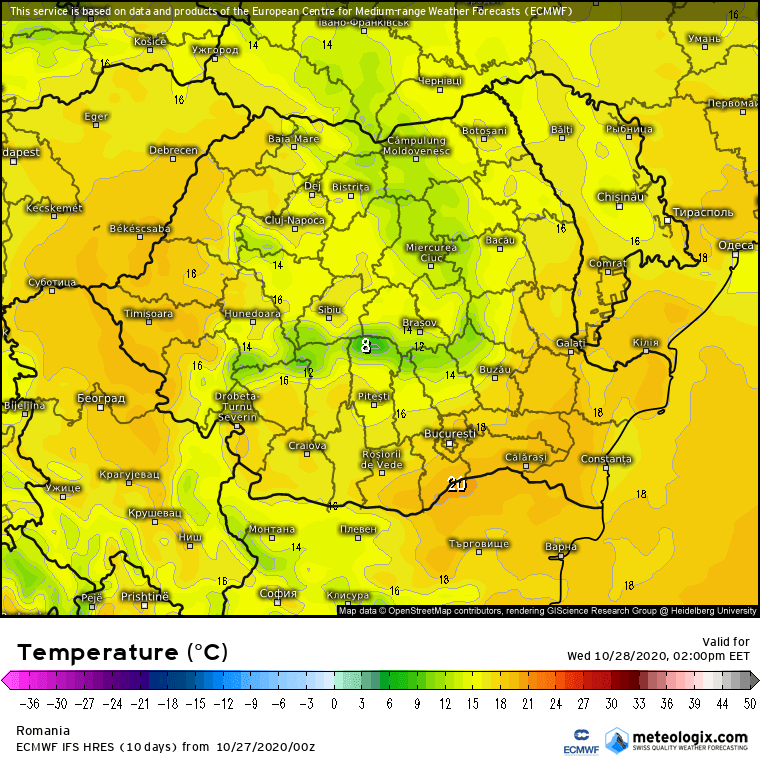 Prognoza meteo Romania 27 Octombrie 2020 (Romania weather forecast)