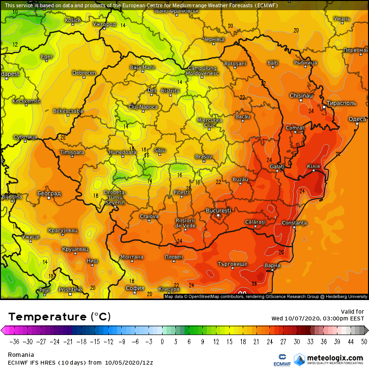 Prognoza meteo Romania 6 Octombrie 2020 (Romania weather forecast)