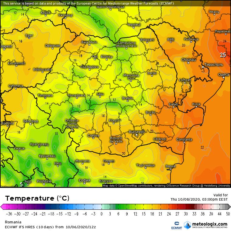 Prognoza meteo Romania 7 Octombrie 2020 (Romania weather forecast)