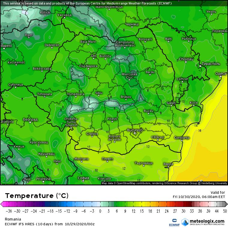 Prognoza meteo Romania 29 Octombrie 2020 (Romania weather forecast)