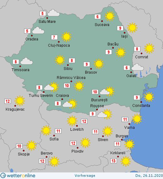 Prognoza meteo Romania 26 Noiembrie 2020 #Romania #vremea