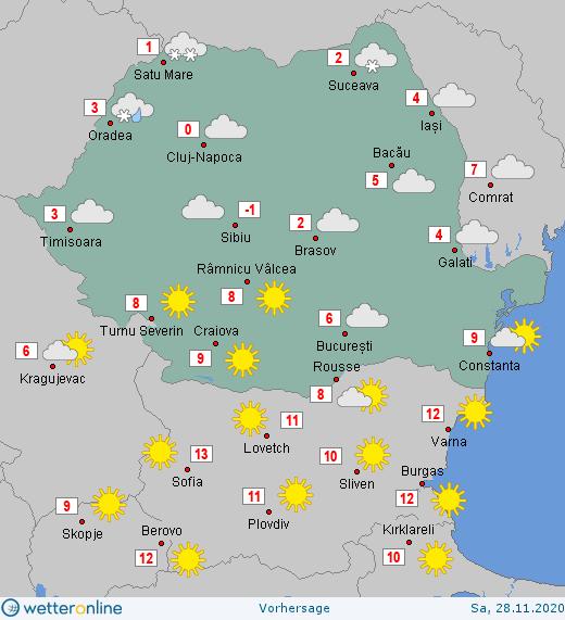 Prognoza meteo Romania 28 Noiembrie 2020 #Romania #vremea