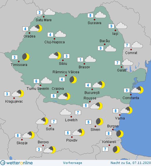 Prognoza meteo Romania 6 Noiembrie 2020 (Romania weather forecast)