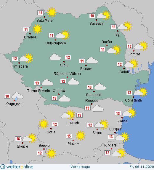 Prognoza meteo Romania 6 Noiembrie 2020 #Romania #vremea