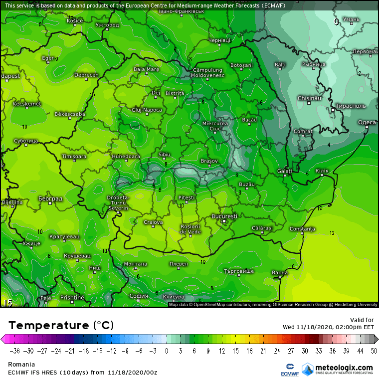 Prognoza meteo Romania 18 Noiembrie 2020 (Romania weather forecast)