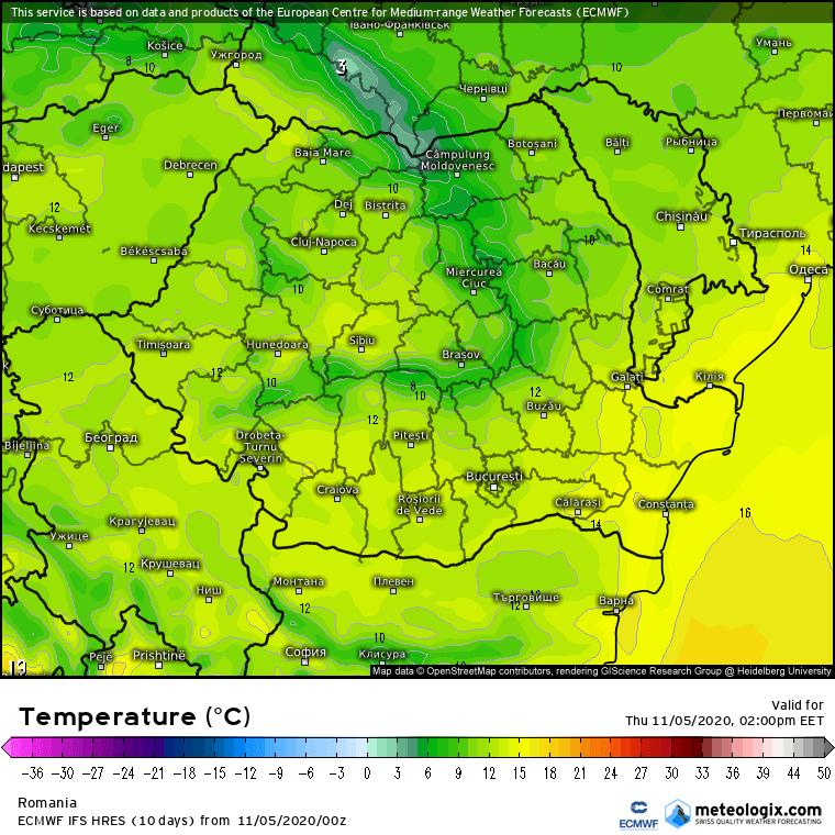 Prognoza meteo Romania 5 Noiembrie 2020 (Romania weather forecast)