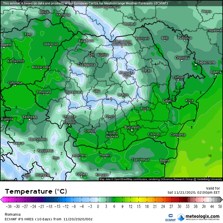 Prognoza meteo Romania 20 Noiembrie 2020 (Romania weather forecast)