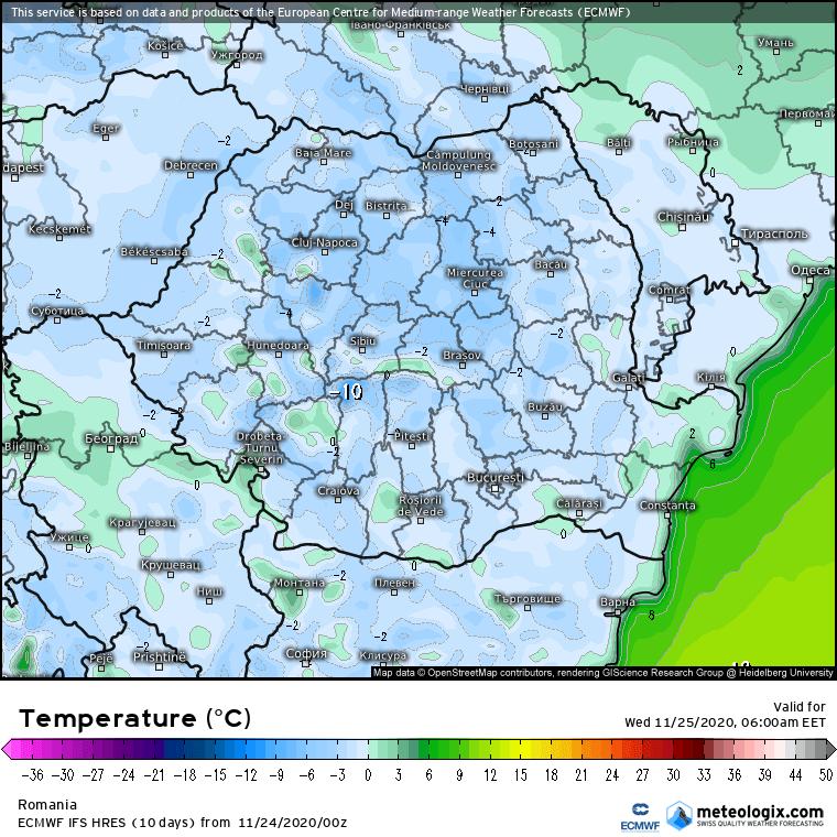 Prognoza meteo Romania 24 Noiembrie 2020 (Romania weather forecast)