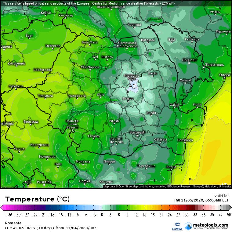 Prognoza meteo Romania 4 Noiembrie 2020 (Romania weather forecast)