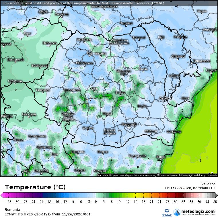 Prognoza meteo Romania 26 Noiembrie 2020 (Romania weather forecast)