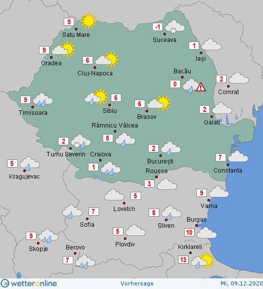Prognoza meteo Romania 9 Decembrie 2020 #Romania #vremea