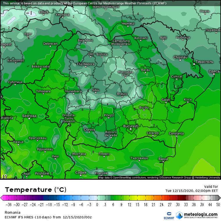 Prognoza meteo Romania 15 Decembrie 2020 (Romania weather forecast)