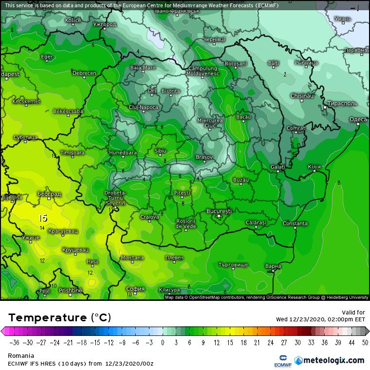 Prognoza meteo Romania 23 Decembrie 2020 (Romania weather forecast)