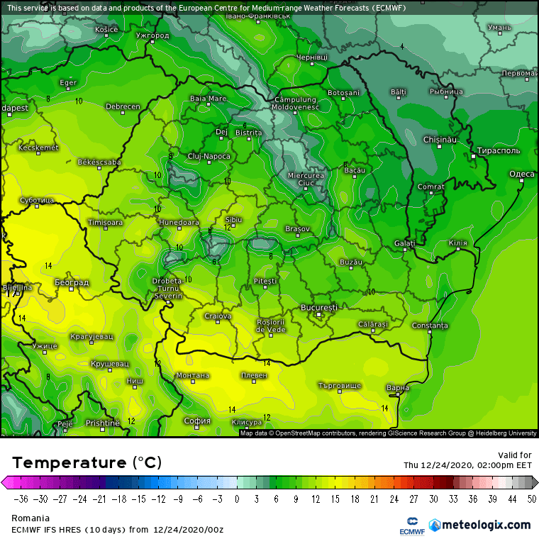 Prognoza meteo Romania 24 Decembrie 2020 (Romania weather forecast)