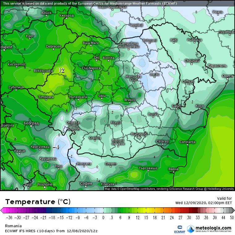 Prognoza meteo Romania 9 Decembrie 2020 (Romania weather forecast)