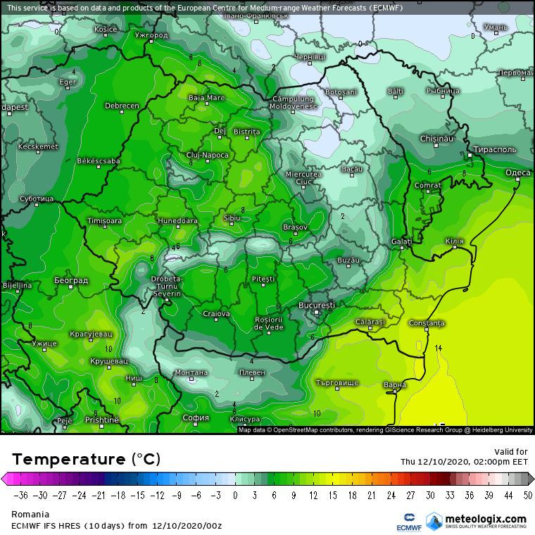 Prognoza meteo Romania 10 Decembrie 2020 (Romania weather forecast)