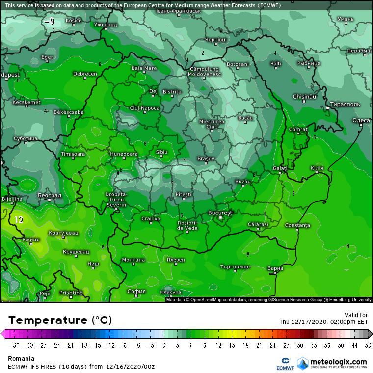 Prognoza meteo Romania 16 Decembrie 2020 (Romania weather forecast)