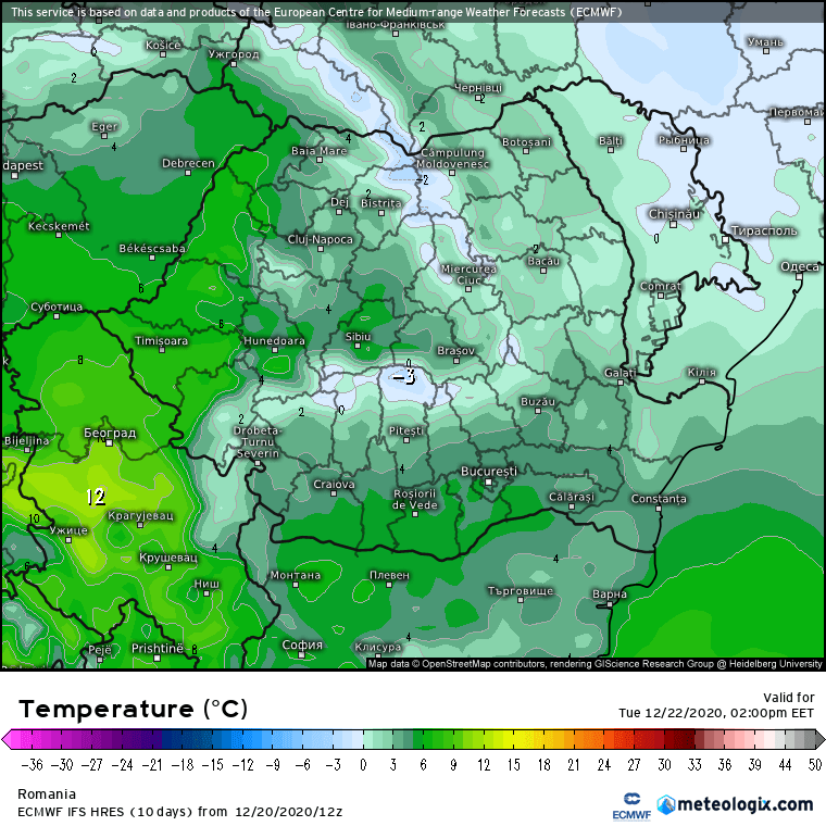 Prognoza meteo Romania 21 Decembrie 2020 (Romania weather forecast)