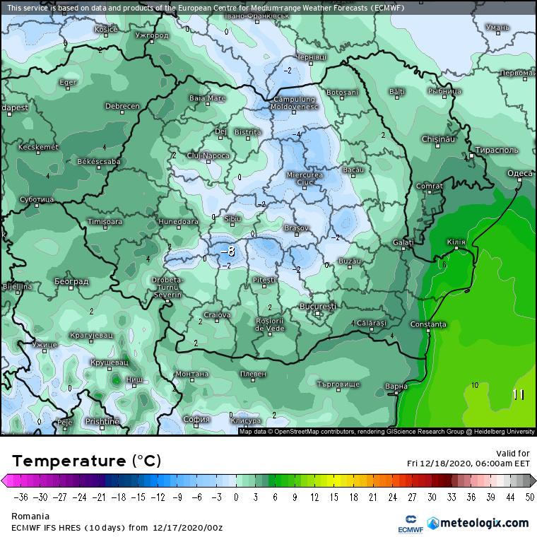 Prognoza meteo Romania 17 Decembrie 2020 (Romania weather forecast)