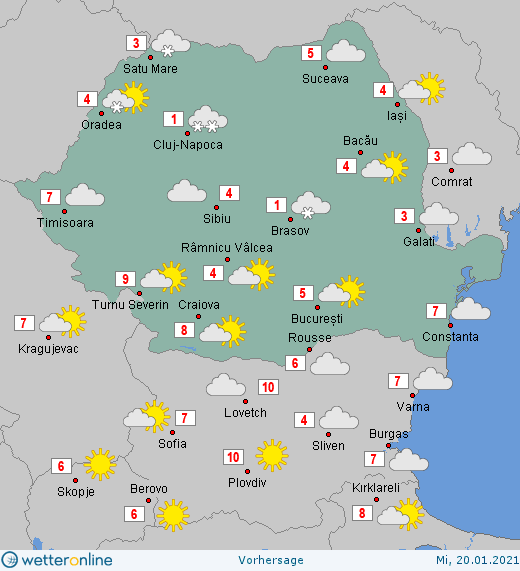 Prognoza meteo Romania 20 Ianuarie 2021 #Romania #vremea