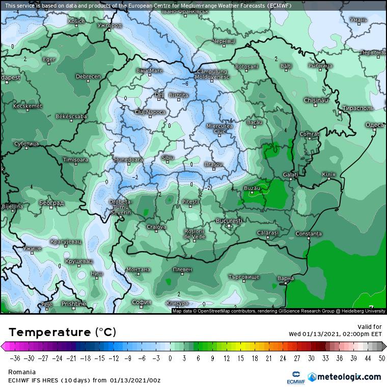Prognoza meteo Romania 13 Ianuarie 2021 (Romania weather forecast)